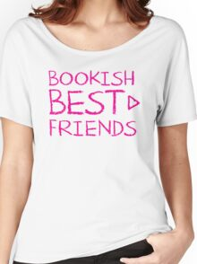 BOOKISH BEST FRIENDS pink matching with arrow right Women's Relaxed Fit T-Shirt