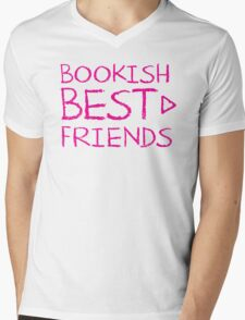 BOOKISH BEST FRIENDS pink matching with arrow right Mens V-Neck T-Shirt