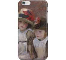 John Singer Sargent - Village Children  iPhone Case/Skin