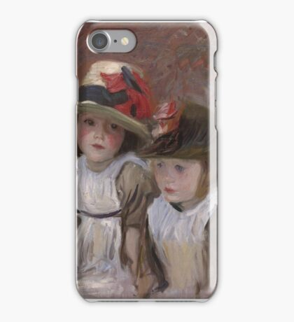 John Singer Sargent - Village Children  iPhone Case/Skin
