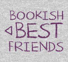 BOOKISH BEST FRIENDS purple matching with arrow left Kids Tee