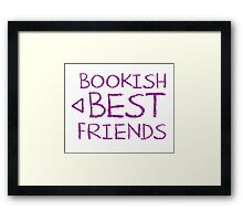 BOOKISH BEST FRIENDS purple matching with arrow left Framed Print