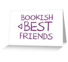 BOOKISH BEST FRIENDS purple matching with arrow left Greeting Card