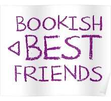 BOOKISH BEST FRIENDS purple matching with arrow left Poster