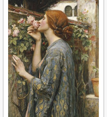 John William Waterhouse - The Soul Of The Rose Sticker