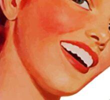 Smash Patriarchy - 1950s Feminist pinup ad  Sticker