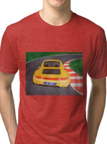 PORSCHE carrera 4S original canvas painting Tri-blend T-Shirt