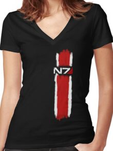 N7 - Mass Effect Women's Fitted V-Neck T-Shirt