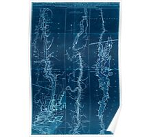 American Revolutionary War Era Maps 1750-1786 280 A topographical map of Hudsons River with the channels depth of water rocks shoals &c and the country Inverted Poster