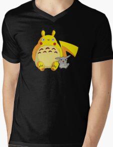 Totorotchu & Pikaro  Mens V-Neck T-Shirt