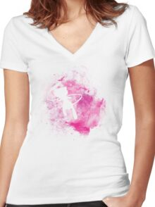 Mew Women's Fitted V-Neck T-Shirt