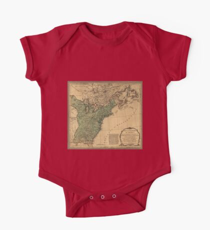 American Revolutionary War Era Maps 1750-1786 947 The United States of America with the British possessions of Canada Nova Scotia & of Newfoundland divided One Piece - Short Sleeve