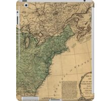 American Revolutionary War Era Maps 1750-1786 947 The United States of America with the British possessions of Canada Nova Scotia & of Newfoundland divided iPad Case/Skin