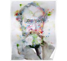 WILLIAM JAMES - watercolor portrait Poster