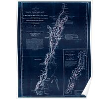 American Revolutionary War Era Maps 1750-1786 277 A survey of Lake Champlain including Lake George Crown Point and St John Inverted Poster