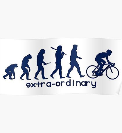 Cycling Evolution blue Poster