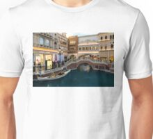 Magnificent Shopping Destination - White Wedding Gondola at the Venetian Grand Canal Shoppes Unisex T-Shirt