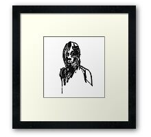 Abstract portraits drawings Framed Print