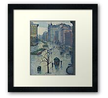 Leon Kroll - Broadway Looking South  Framed Print