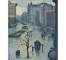Leon Kroll - Broadway Looking South  Photographic Print