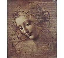 Leonardo Da Vinci - Head Of A Young Woman With Tousled Hair Or Leda Photographic Print
