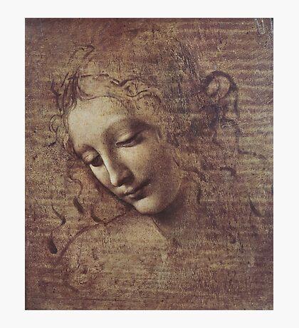 Leonardo Da Vinci - Head Of A Young Woman With Tousled Hair Or Leda Photographic Print