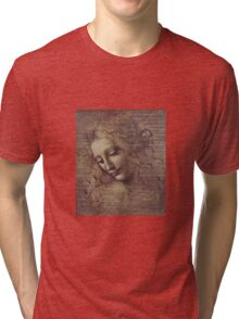 Leonardo Da Vinci - Head Of A Young Woman With Tousled Hair Or Leda Tri-blend T-Shirt