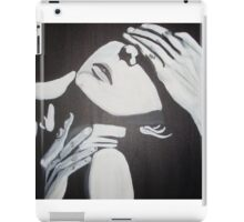 bEAUTIFUL AND UNIQUE ORIGINAL ART BLACK WHITE MODERN COUPLE EROTIC LINES iPad Case/Skin