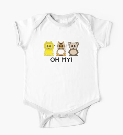 Lions & Tigers & Bears - Oh My! One Piece - Short Sleeve