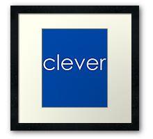 """Clever - """"Clever&Smart"""" Part 1 Framed Print"""