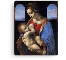 Leonardo Da Vinci - Madonna Litta Madonna And The Child Canvas Print