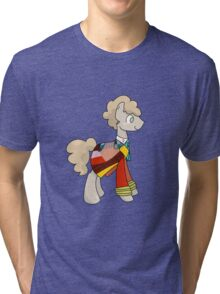 6th Doctor Whooves Tri-blend T-Shirt