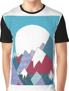 Blue sky mountains Graphic T-Shirt