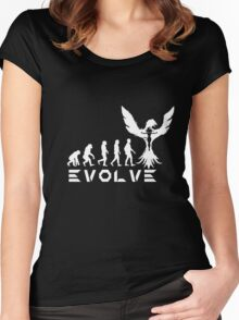 Evolution of X-Man - Phoenix Women's Fitted Scoop T-Shirt