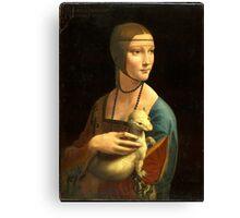 Leonardo Da Vinci - The Lady With An Ermine  Canvas Print