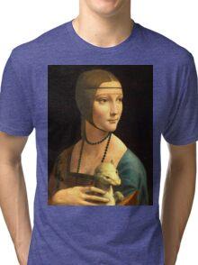 Leonardo Da Vinci - The Lady With An Ermine  Tri-blend T-Shirt