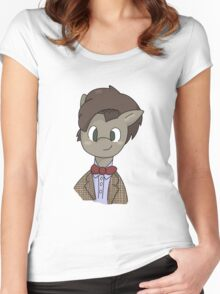 11th Doctor whooves Women's Fitted Scoop T-Shirt