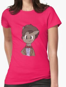 11th Doctor whooves Womens Fitted T-Shirt