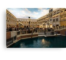 Magnificent Shopping Destination - Saint Marks Square at the Venetian Grand Canal Shoppes Canvas Print