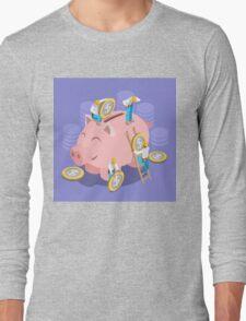 Saving Money Concept Long Sleeve T-Shirt
