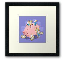 Saving Money Concept Framed Print