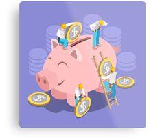 Saving Money Concept Metal Print