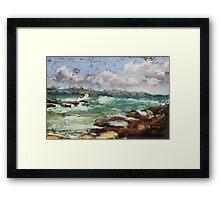 Spoonies Bay, Bonny Hills Framed Print
