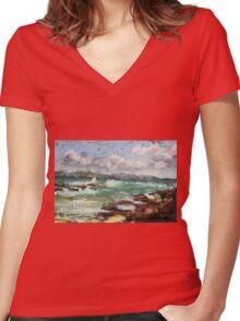Spoonies Bay, Bonny Hills Women's Fitted V-Neck T-Shirt