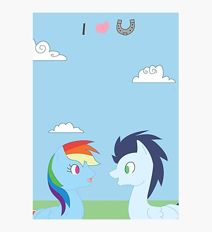 Dashie and Soarin Photographic Print