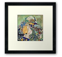 Gustav Klimt - Baby ,Cradle  Framed Print