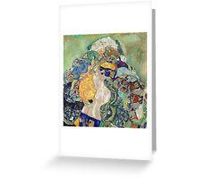 Gustav Klimt - Baby ,Cradle  Greeting Card