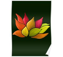 Lotus Love (Green) Poster