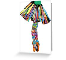 Happy Ballerina Greeting Card