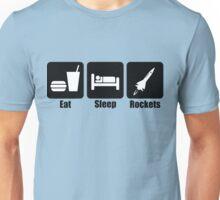Eat Sleep Rockets (Horizontal) Unisex T-Shirt